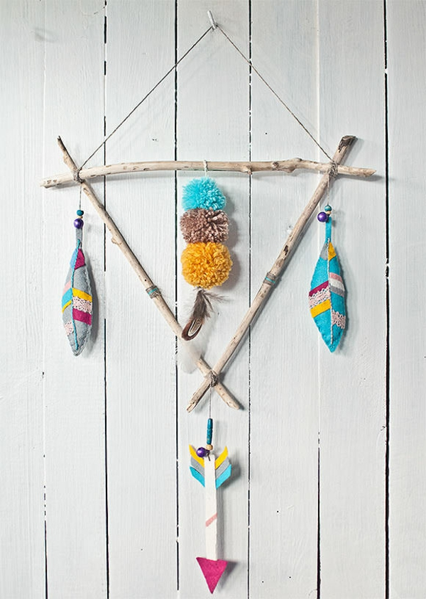 DIY mobile fjer Native American