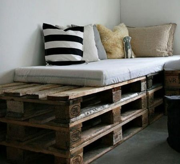 diy projects bench build europallets