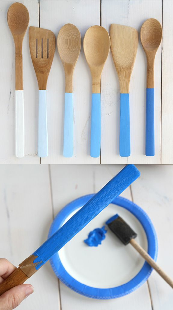 diy home decor kitchen ideas spice up wooden spoons