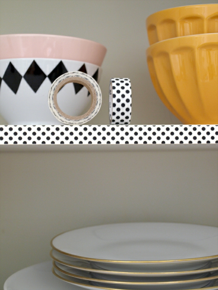 diy kitchen ideas kitchen shelves wishi tape