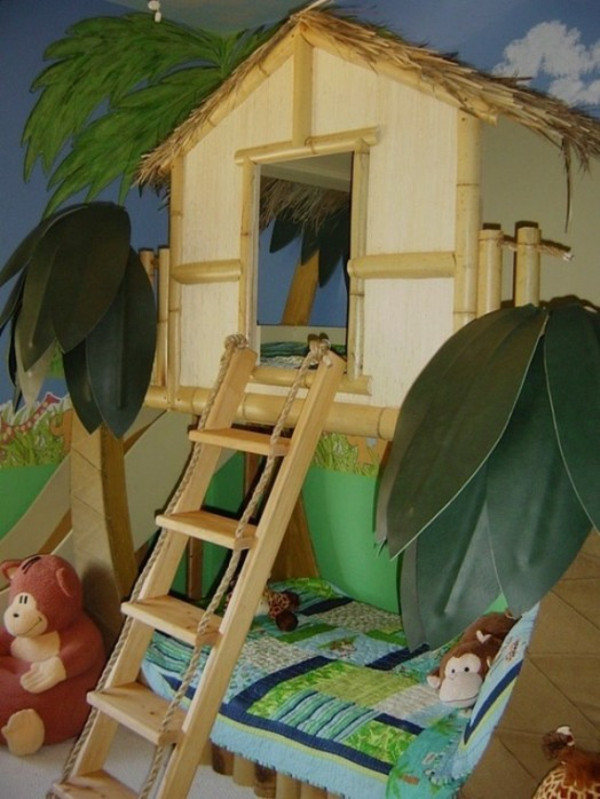 jungel deco tree house bed