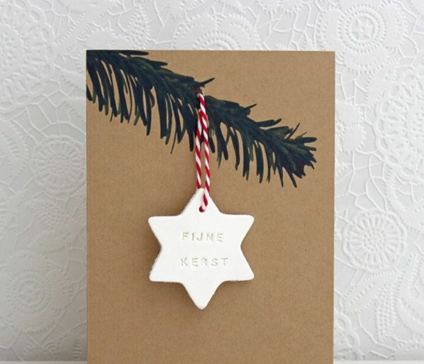 Tinker stars branches simple christmas cards