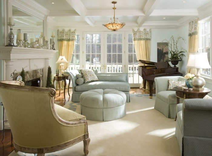 furnishing country style french style living room