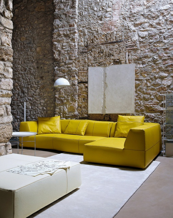 furnishing ideas furniture modern yellow sofa