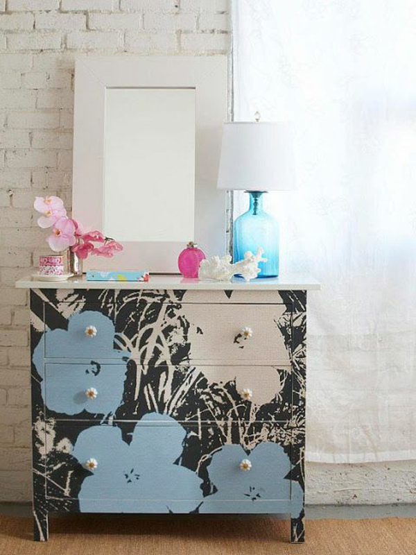 furnishing ideas furniture modern dresser flower pattern