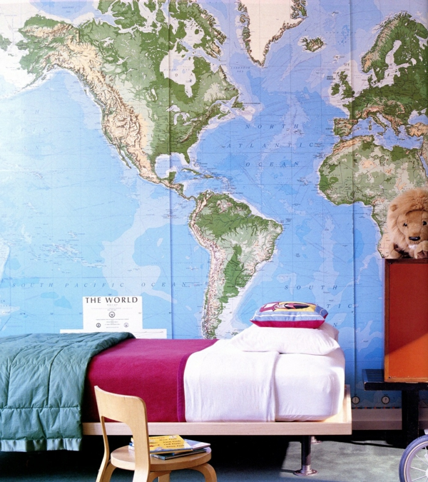 furnishing ideas furniture modern world map wall design