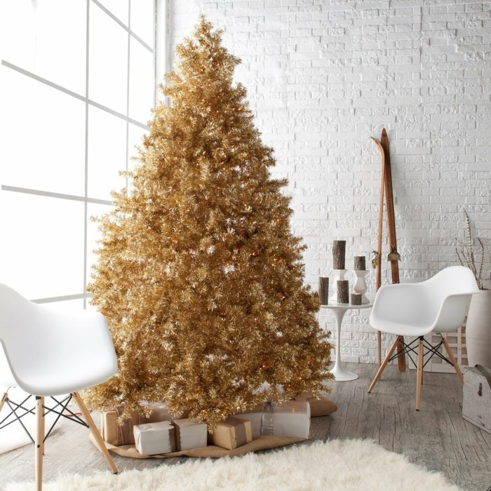 living room decorate christmas unusual christmas tree golden