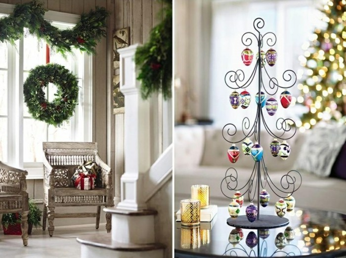 living room decorate christmas deco wreath garland decoration