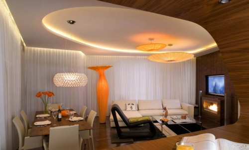 elegant orange akcente floor vase indirect lighting ceiling