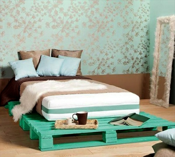 wooden pallet bed bed bench bedroom