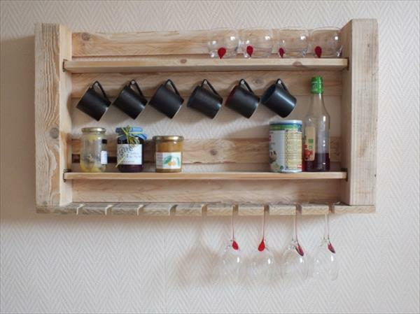 wooden pallet diy kitchen shelf