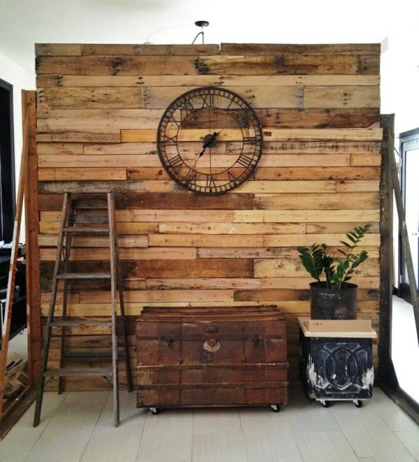 Euro pallet diy rustic partition wall