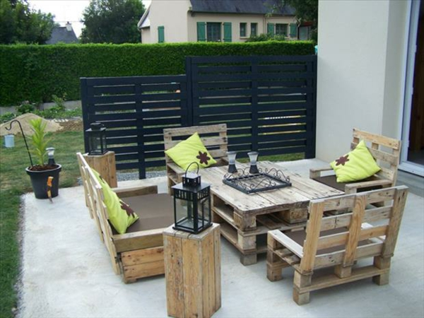 europalette diy seating table terrace