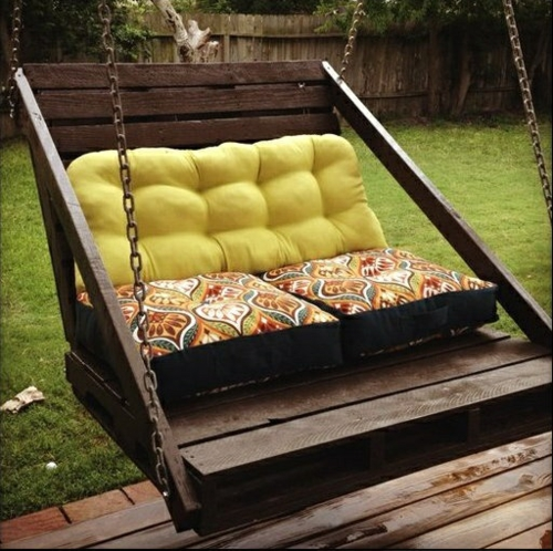 recycle swing europaletten furniture crafting ideas