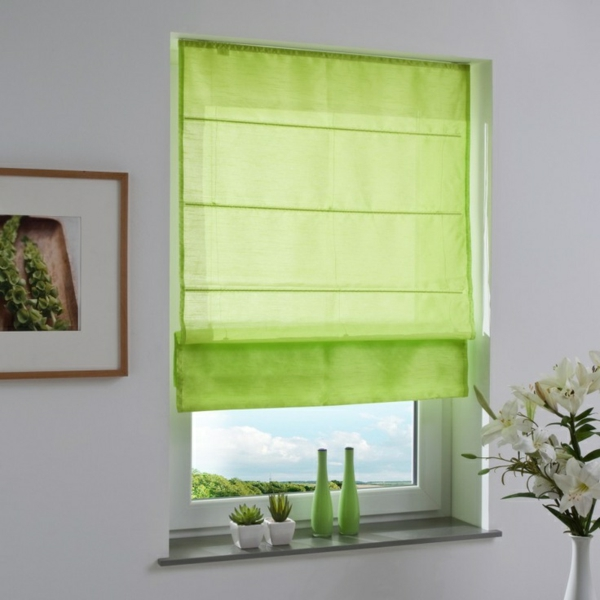 faltrollo sew sewn green window decor ideas
