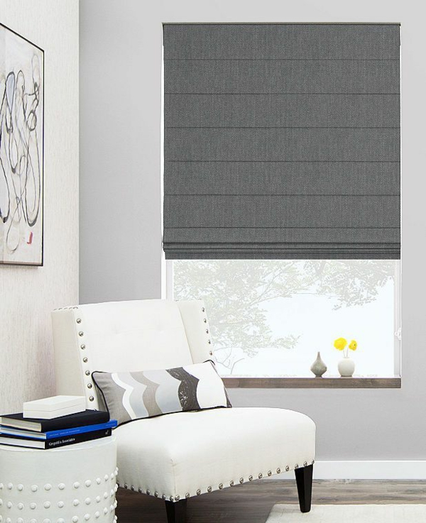 sew faltrollo itself gray window decor living room roman blinds