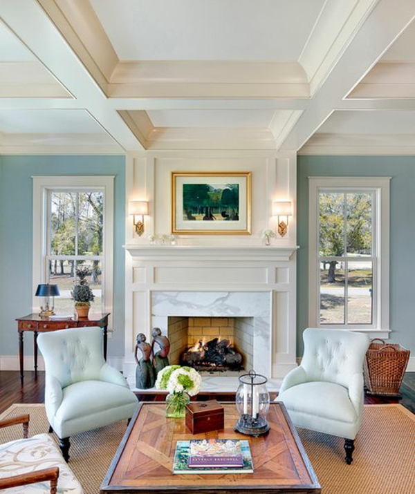color scheme living room ideas wall paint dove blue