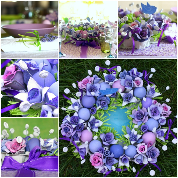 festive table decoration easter craft ideas