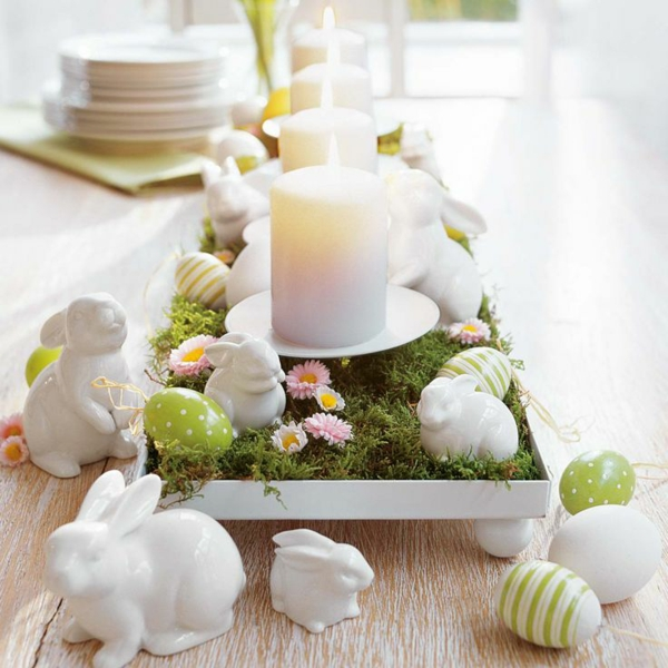 festive table decoration easter china easter bunny candles