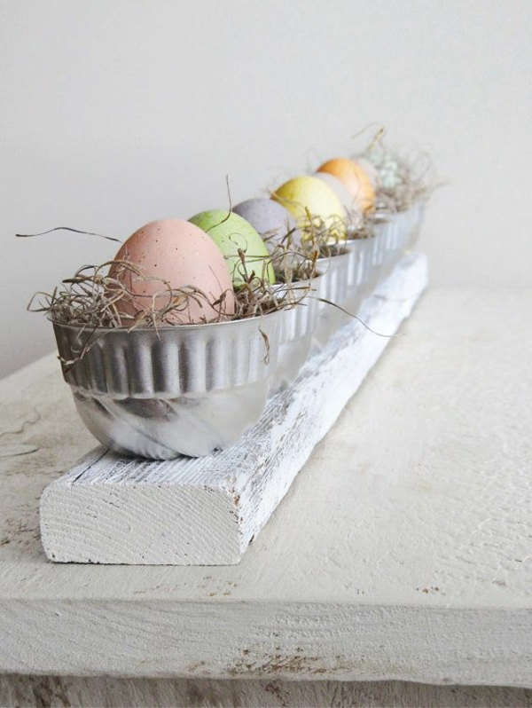 festive table decoration to easter eggs painted easter eggs pastel colors