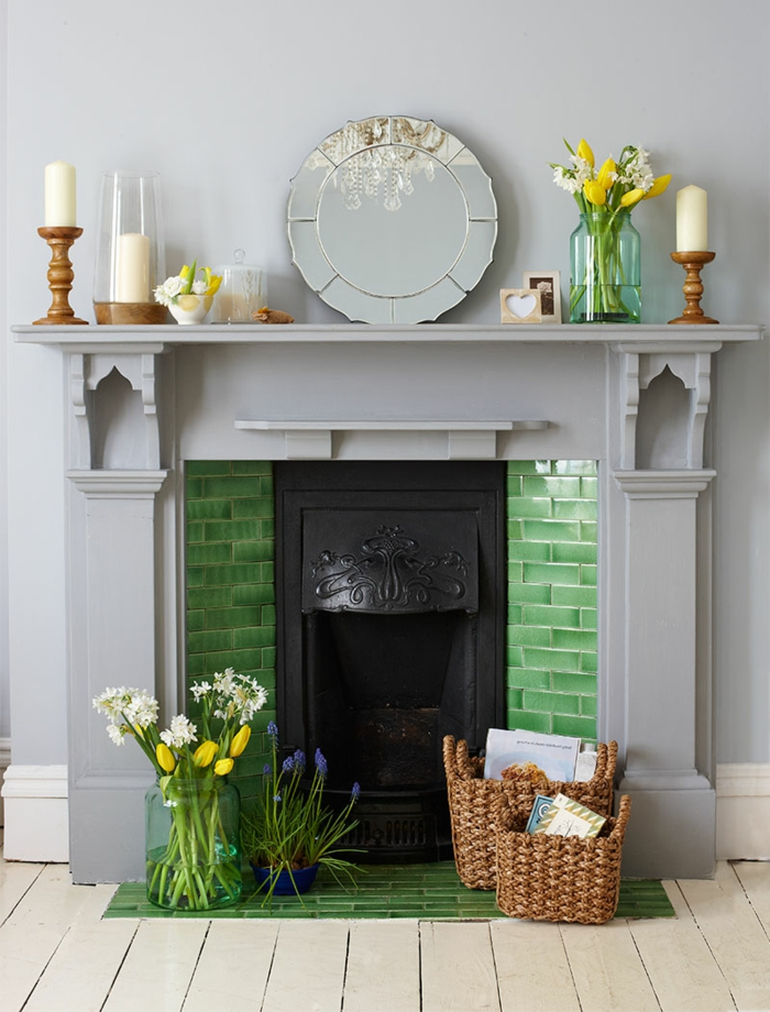 hearth decorate home decor deco flowers colors