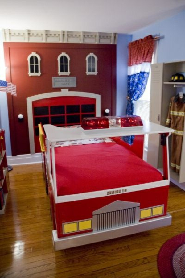 Fire department inspired boy's room ideas