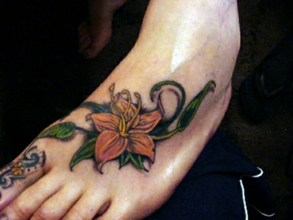 foot tattoo designs tattoos pictures flowers