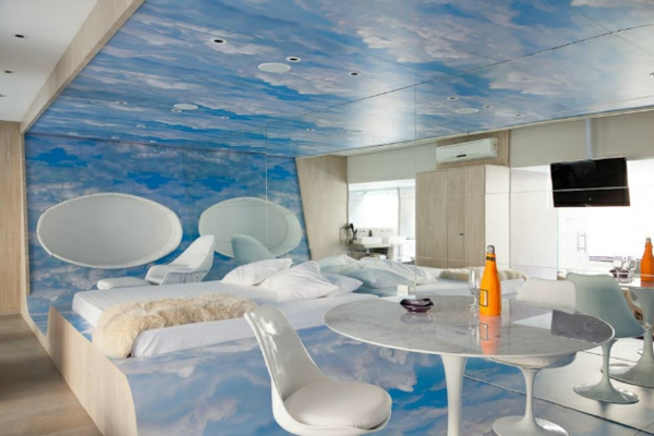 futuristic bedroom designs over the clouds