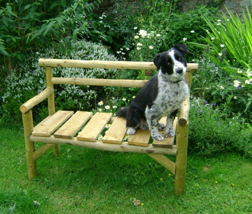 garden bench self crafting project spring design wood metal dog