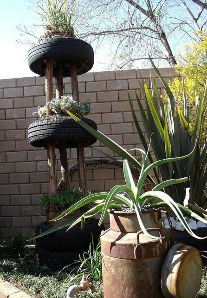 Garden decor itself make great plant containers car tires