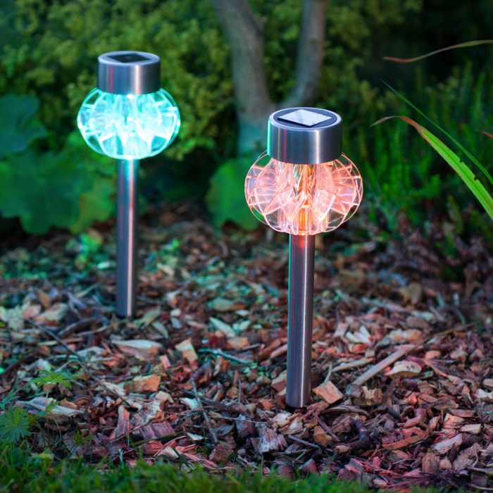 garden ideas garden illuminate garden sconces colored light