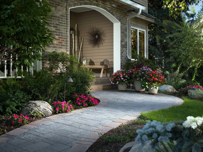 garden ideas garden decoration garden plants garden path house facade
