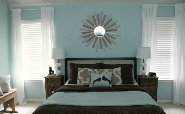 gray blue wall paint dove blue bedroom color scheme wall decor with mirror