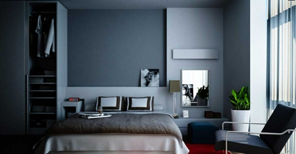 gray blue wall paint dove blue bedroom color scheme wall design ideas
