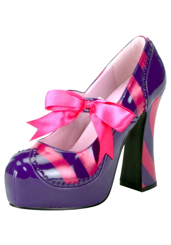 grinning cat diy costume pink purple stripes shoes