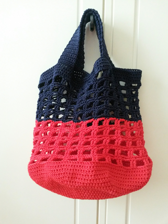 crochet pattern shopping bag rojo negro estilo de vida