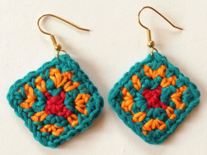 crochet pattern fresh colors diy jewelry