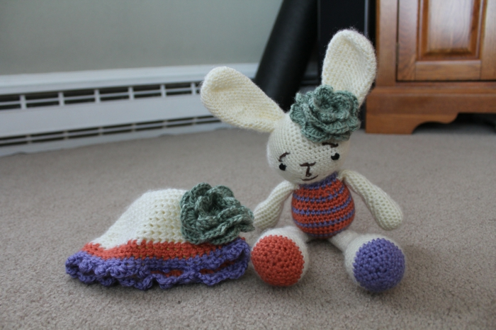 crocheted animals make beautiful deco ideas bunny hat