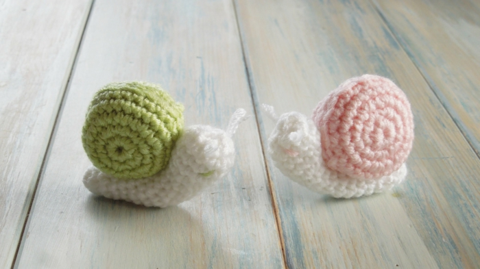 crocheted animals craft snails crochet beautiful patterns