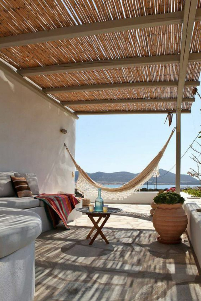 hammock balcony hanging walkway slabs