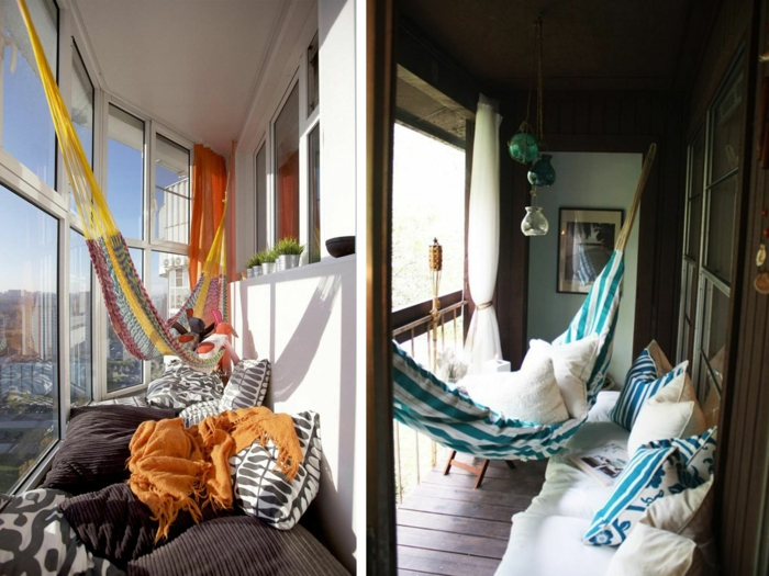 hammock balcony small balcony furnishing ideas
