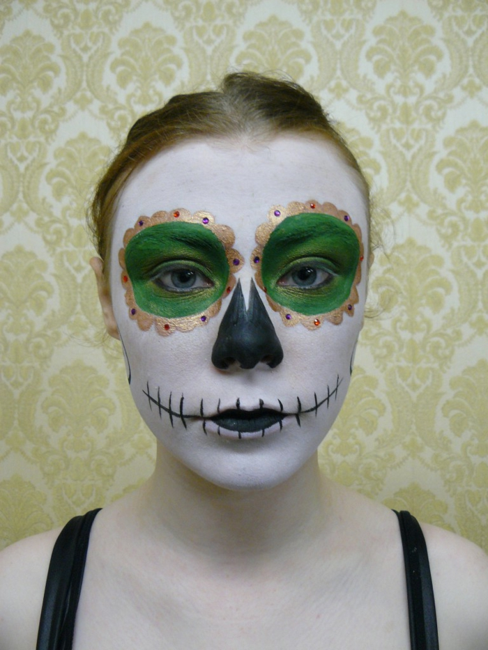Halloween make-up idei doamnelor make-up sfaturi verde eyeshadow