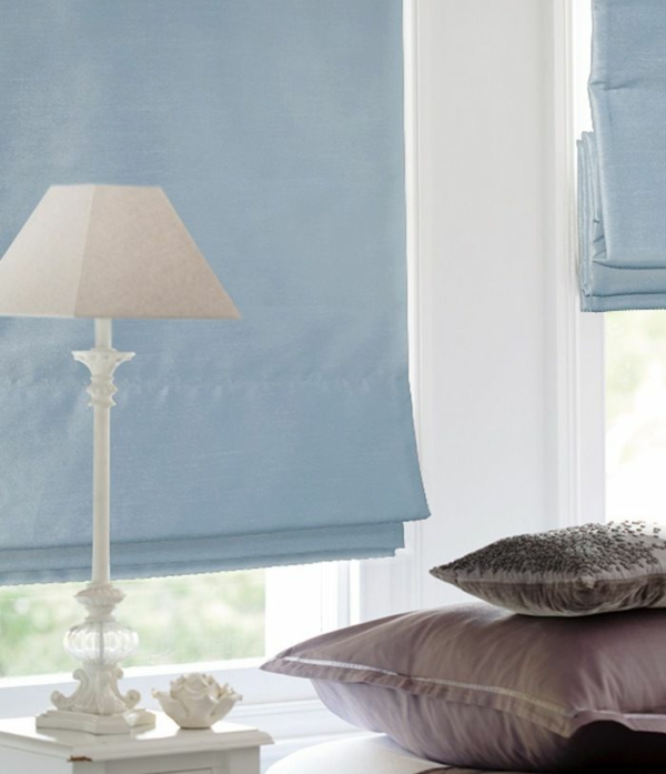 pale blue falloutlo self-sew window decoration protection ideas