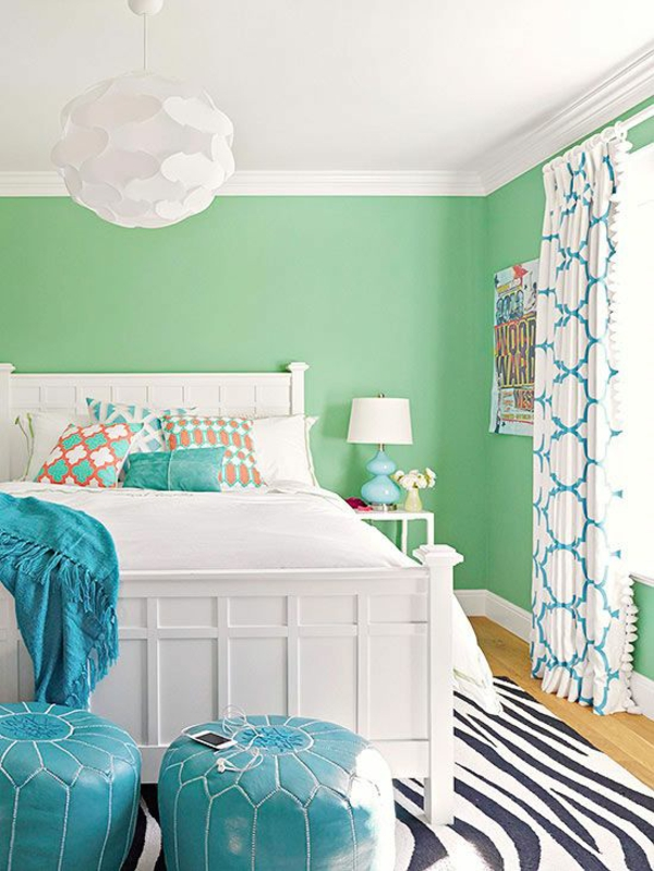 bright wall colors green bedroom wall frame