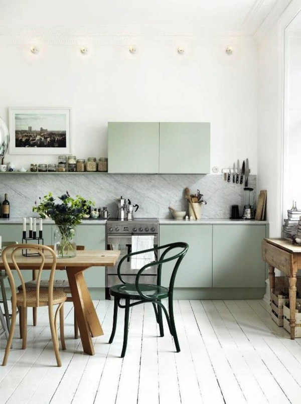 bright wall colors green shades kitchen set up color ideas