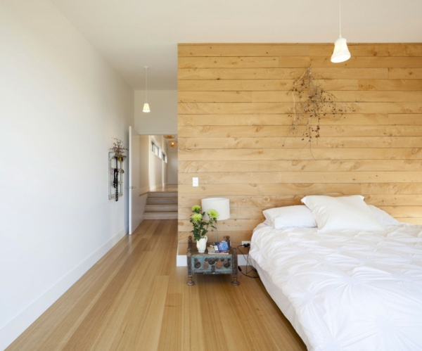 bright wall paints wood paneling wall bedroom wood floor wood varnish layers