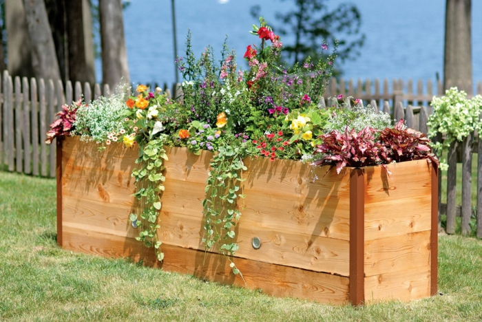 hochbeet garden design beautiful flowers plant
