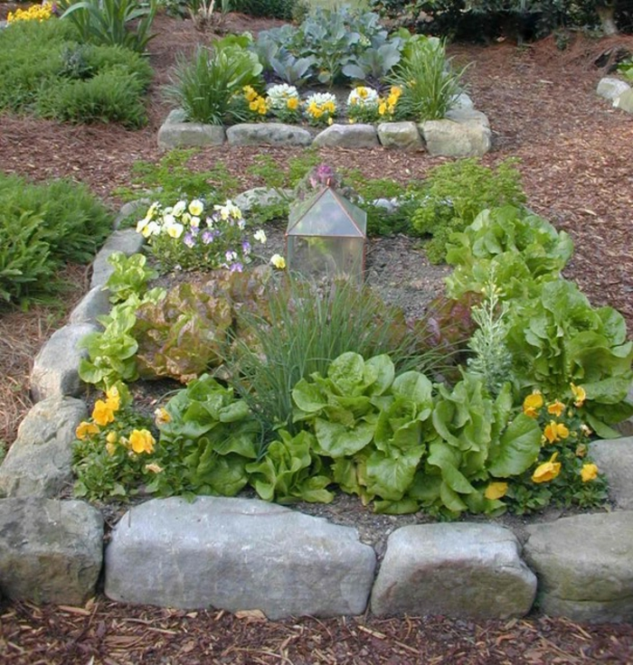 raised bed garden stones original design