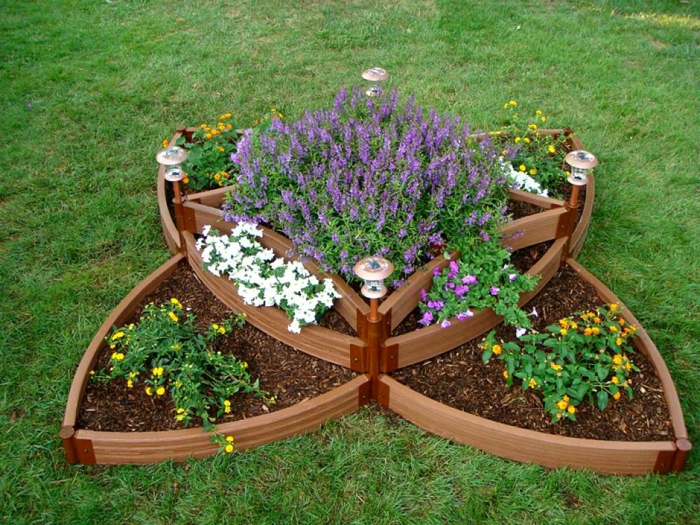 raised beds design unusual butterfly flowers