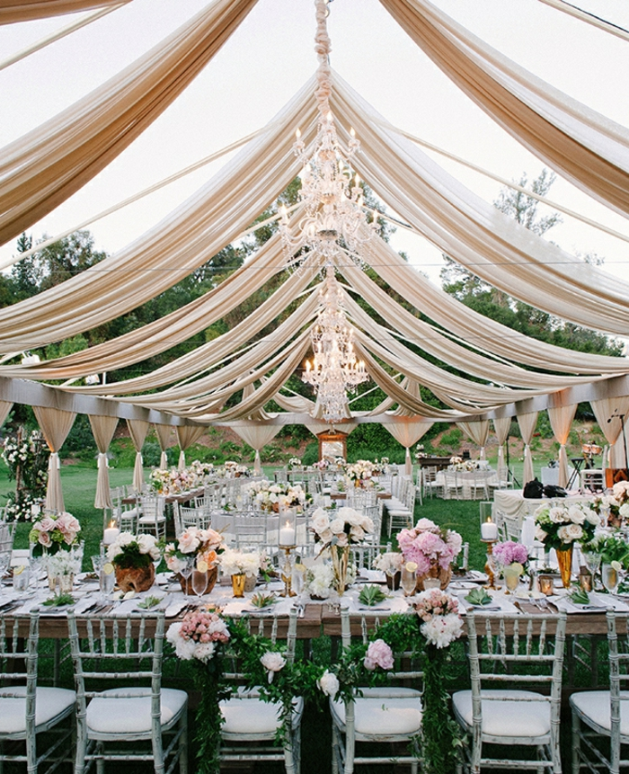 wedding decoration trends floral table decoration crystal chandelier